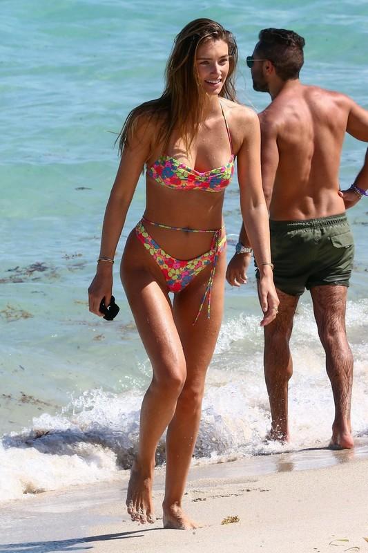 german model Lorena Rae in wet bikini