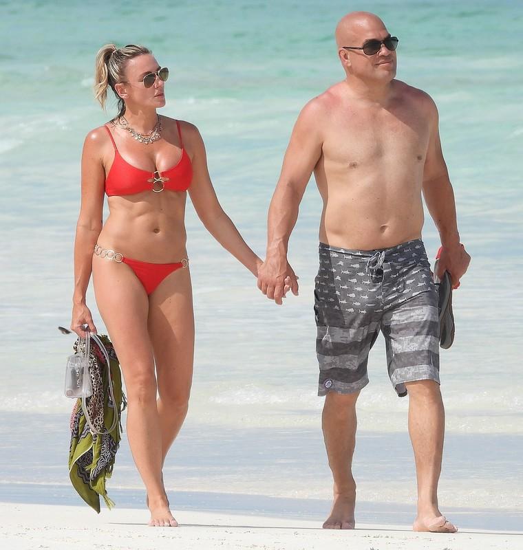 lovely milf Amber Nichole Miller in red bikini