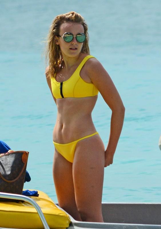 gorgeous babe Tallia Storm in yellow bikini