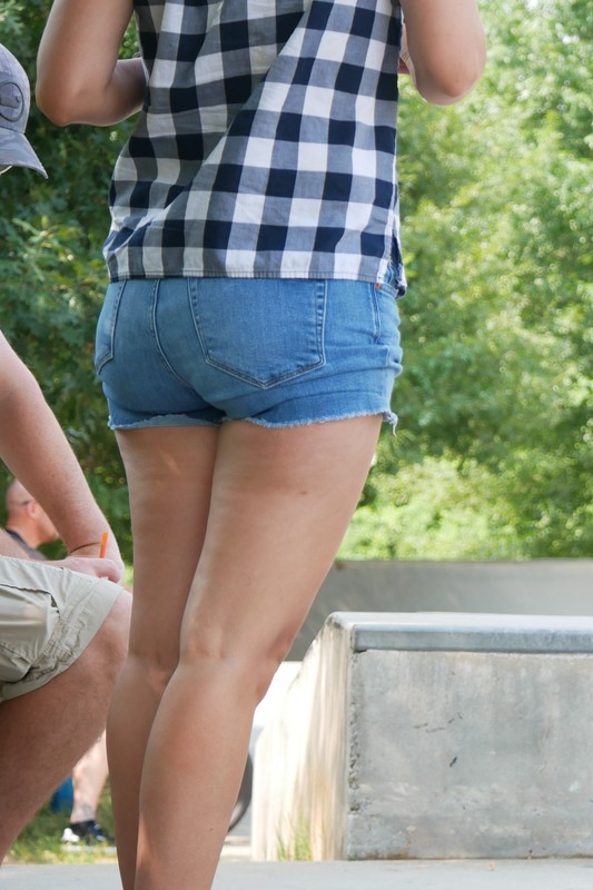 handsome booty in jeans shorts