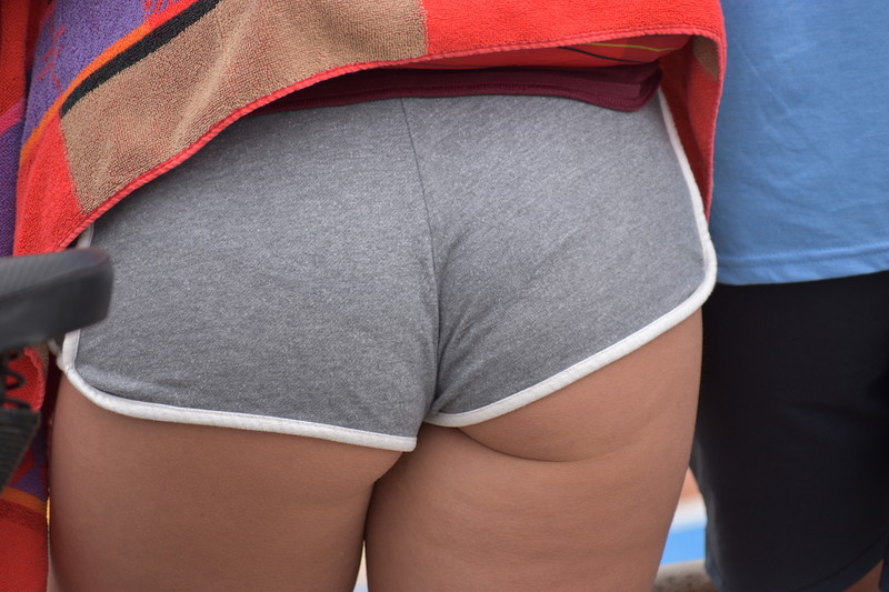 awesome butt in gym shorts