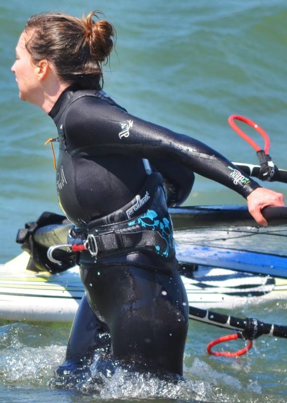 beauty in wetsuit