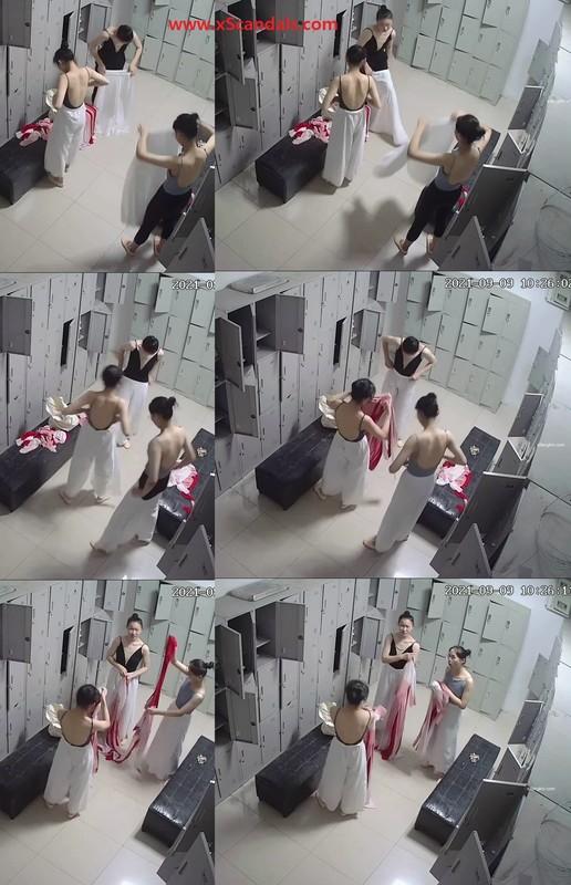 Candid photos of the locker room, various girls practicing dance, folk dance, ballet