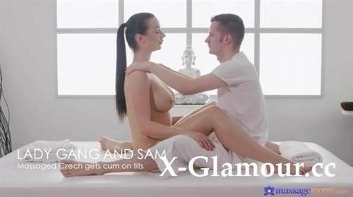 Lady Gang - Massaged Czech Gets Cum On Tits (2021/SD)